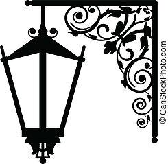 vintage streetlight - Vector illustration of vintage...