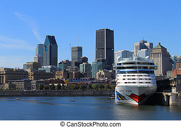 Downtown Montreal Canada - MONTREAL, QUEBEC, OCT 4 2013:...