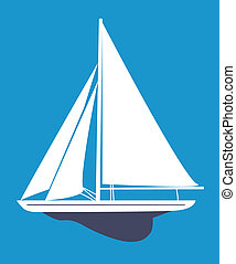 Sailboat - A vector illustration of sailboat
