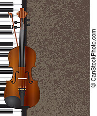 Piano and Violin with Background Illustration - Piano and...