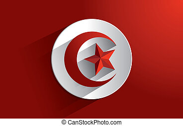 Flag of Tunisia - Creative Abstract Flag of Tunisia...