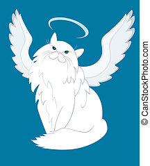 The Cat of Angelic Nature - Humorous illustration with my...