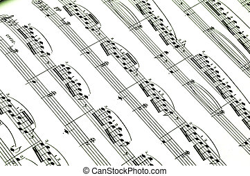 Sheet music - sheet music with notes on a white background