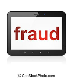 Security concept: Fraud on tablet pc computer