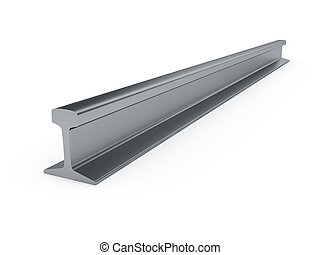 girder rail isolated - 3d illustration of steel girder rail...