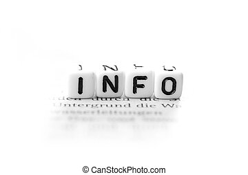 informations - Info, Information with white background
