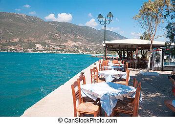 Village of Vasiliki on the Ionian island of Lefkas Greece