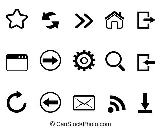 web browser tools icon - isolated web browser tools icon on...
