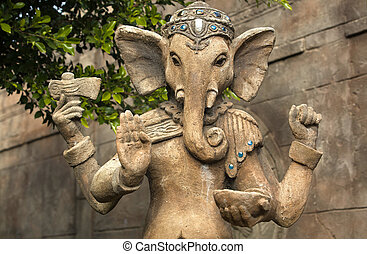 Ganesh sculpture - Ganeshas elephant head makes him...