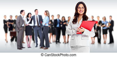 Business people group Isolated over white background