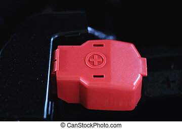 Battery terminal in the engine car