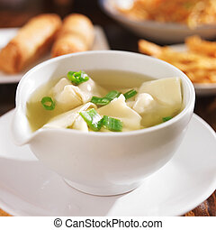 chinese food - bowl of wonton soup