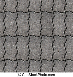 Paving Slabs Seamless Tileable Texture - Gray Wavy Paving...