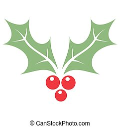 Holly berry icon - Christmas holly berry symbol Vector...