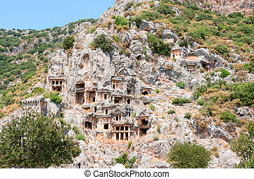 Tombs in ancient town Myra in Lycia