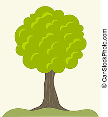 Green tree vector - Green tree growing. Vector illustration
