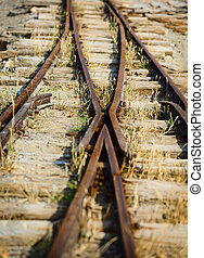 Switch on the old narrow-gauge railway - The switch on the...