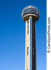 Reunion Tower - Dallas famous landmark - Reunion Tower in...
