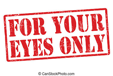 For your eyes only stamp - For your ey