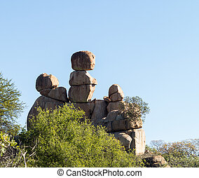 Matobo National Park Bulawao Zimbabwe - Granite rock...