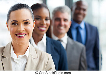 group of business team standing in a row