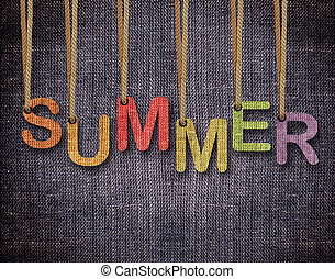 Letters hanging strings - Summer letters hanging strings...
