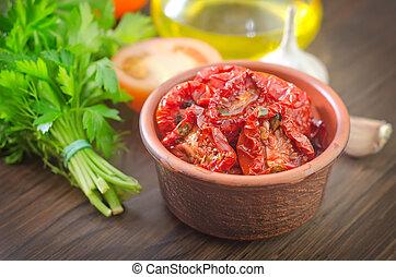 tomate, séché