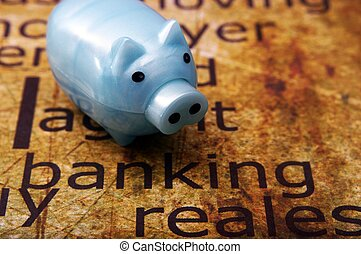 Piggy bank and banking concept
