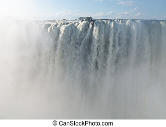 Victoria Falls on Zambezi River - Victoria Falls or...