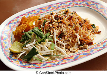 Pad Thai fried thin noodles with soy sauce, Thai style food...