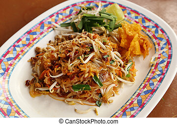 Pad Thai (fried thin noodles with soy sauce), Thai style...