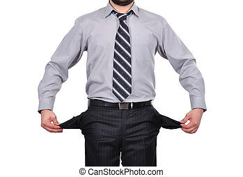 businessman with pockets - businessman standing with pockets...