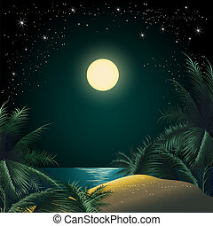 The Tropical Island - illustration of the tropical island...