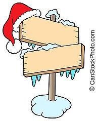 Frozen sign with cap
