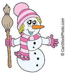 Cute snowman girl