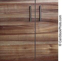 cupboard wood door cabinet in kitchen