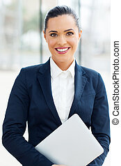young corporate worker in modern office - beautiful young...