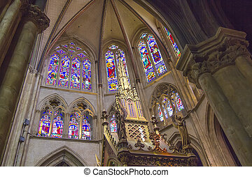 inside the Cathedral of Bayonne, France