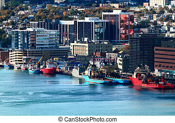 St Johns Newfoundland Downtown and Harbor - Downtown of...