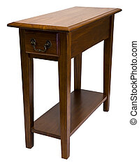 Oak Chair Side End Table - Solid Oak Accent Chair Side End...