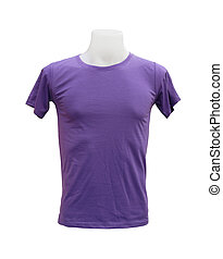 male tshirt template on the mannequin on white background...