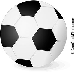Soccer ball - Illustration of a traditional black and white...