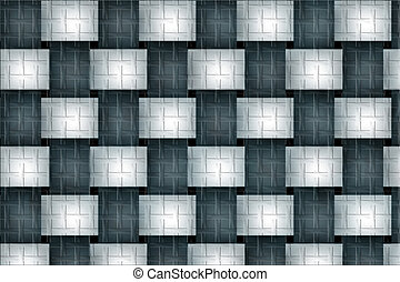 Colored plaid patterns, background pattern of cubic shapes