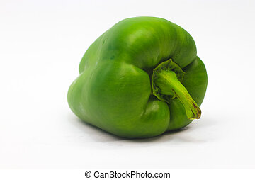 Green Capsicum isolated on white background