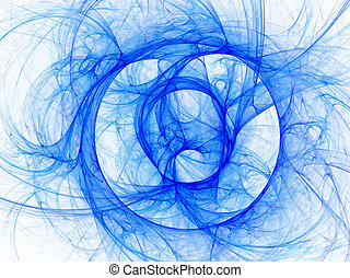 Blue curves on white background