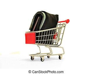 Wallet in a Shopping Trolley