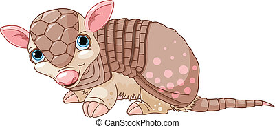 Armadillo cartoon - Illustration of cute cartoon armadillo...