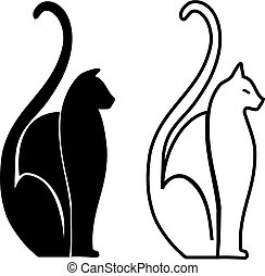 Cats - Stylized cats clipart