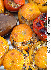 Baked stuffed vegetables greek style - Traditional...