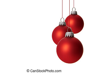 christmas, christmas decoration - red christmas balls...